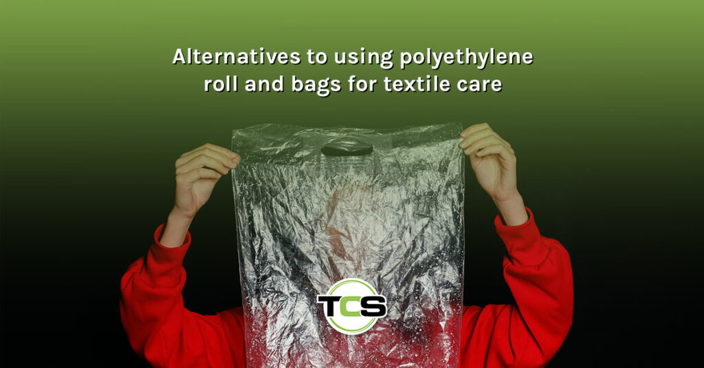 Alternatives to using polyethylene roll and bags for textile care