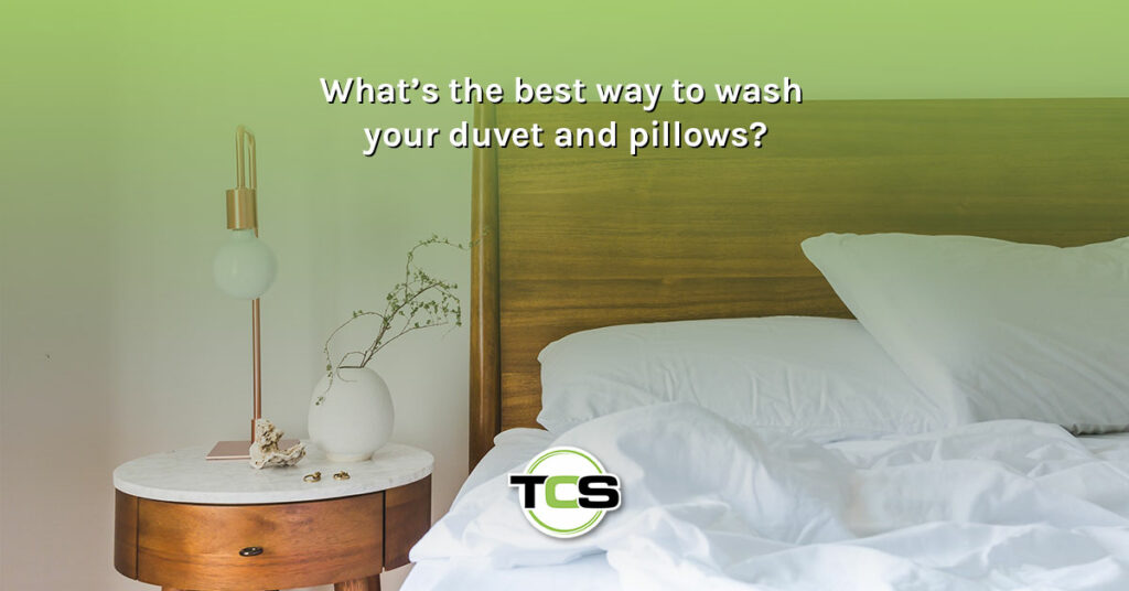 What's the best way to wash your duvet and pillows?